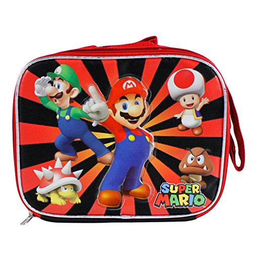 Super Mario Insulated Lunch Bag - Mario, Luigi, Toad, Bowser and Goomba (Super Mario Anime compare prices)