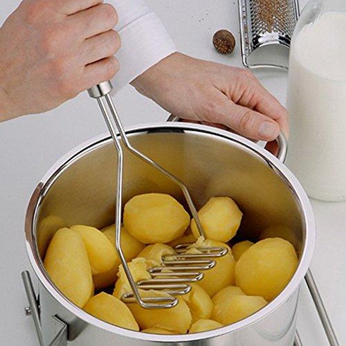 EQLEF® En acier épais de pommes de terre robuste Duty inoxydable Masher Gadget