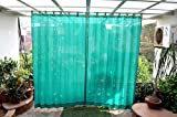 HIPPO Outdoor Curtains - Green Colour - Full Size (2 Nos. x 4.0 Ft x 7.5 Ft)