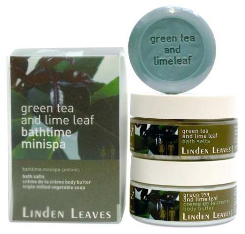 Linden Leaves Bathtime Mini Spa Kit, Green Tea