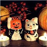 【10月限定】置いて魔を除け、笑顔で招福!ハロウィン招き猫(ペア)