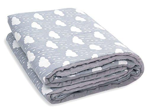mamamond babydecke kuscheldecke zweiseitig baumwolle weiches minky ganzj hrig f r m dchen. Black Bedroom Furniture Sets. Home Design Ideas