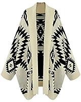 Imixcity Femmes Géométrique Tribal Aztec Long Manche Tricoté Cardigan Pull Hauts Mode