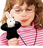 Rabbit in Hat Finger Puppet