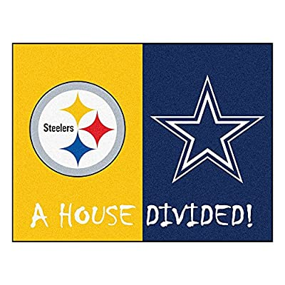 NFL - Pittsburgh Steelers/Dallas Cowboys House Divided Rugs Rectangular