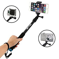 Universal Selfie Stick - Adjustable, Extending Self Portrait Monopod Pole - Best Selfie Sticks for iPhone 6, GoPro, Android Phones, Digital Cameras & More - Durable Lightweight Design from VertiGo