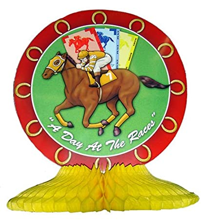 "HORSE RACING DESSERT PLATES "" DAY AT THE RACES"""