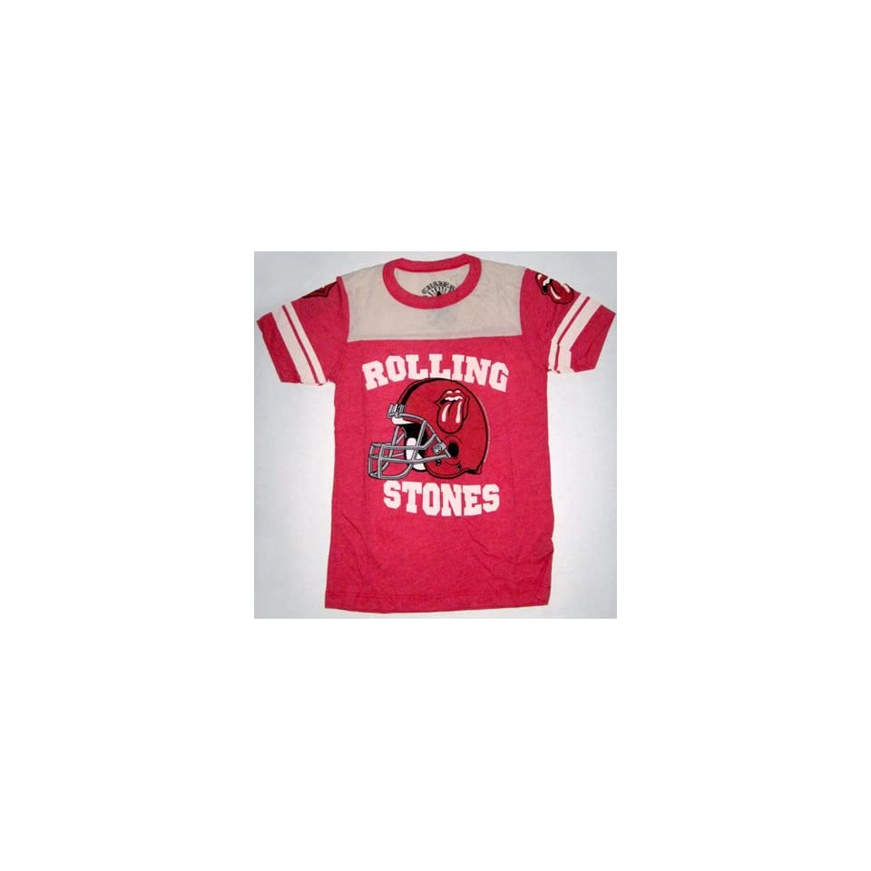 Rolling Stones Football Rock Chaser Tee Shirt Junior Small
