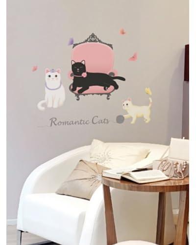 Ambiance Live Vinilo Adhesivo De Romantic Cats