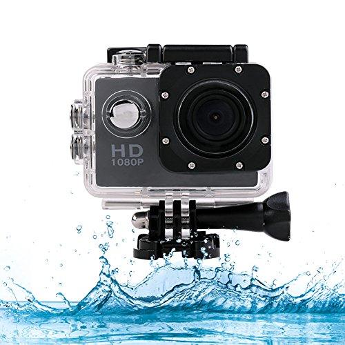 LIVEHITOP 1200W HD 1080P SJ4000 wasserdichte Digitalkamera, 170 Grad-Weitwinkelobjektiv, 30M Sports Car Action-LCD-Camcorder Recorder-Sport-Kamera mit Montagezubehör Kits.