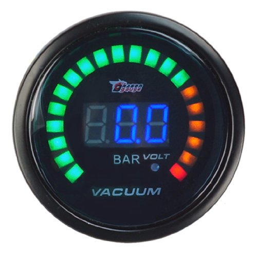 New Universal Auto Car 2Inches 52Mm Digital Color Analog Led Vacuum Bar Meter Racing Gauge