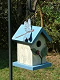 Dragonfly and Leaves Handcrafted Hanging Wood Birdhouse, Made in the USA