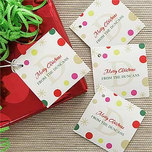 Personalized Gift Tags - Festive Monogram front-1066614