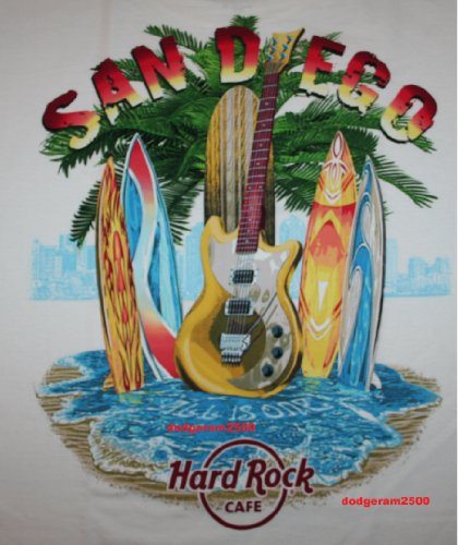 Hard Rock Cafe San Diego ~ City T-Shirt Xxl 2Xl Men'S Nwt New Design!!
