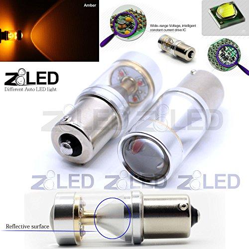 Z8® 2Pcs 1156 7056 Ba15S Auto Led Bulb Car Light 30W Cree Smd Ultra Bright Yellow Led Reverse Signal Back Up Tail Light Z8Led #9G1156Y