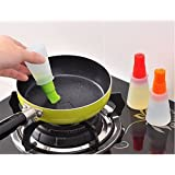 CONNECTWIDE® BBQ Baking Multipurpose Oil And Pastry Brush - 1 Pc Grill Oil Bottle Brushes Silicone Liquid Oil...