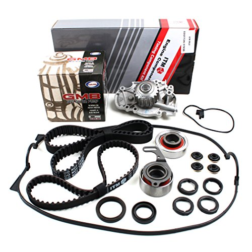 New ITM186WPVC (113 Round Teeth) Timing Belt Seal Kit, Water Pump Set, & Valve Cover Gasket (w/ Grommets, Spark Plug Seals) for Honda 2.2L F22A F22B SOHC NON-VTEC (1993 Honda Accord Water Pump compare prices)