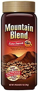 Nestle Mountain Blend Instant Coffee, 7 Ounce Jar