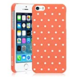 CaseCrown Classic Dots Snap On Case (Passion Coral) for Apple iPhone 5 \ 5s