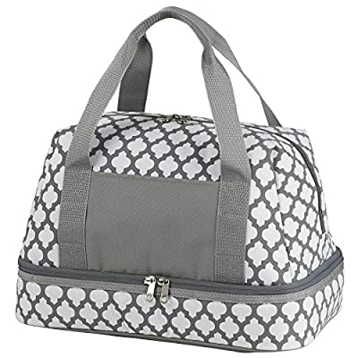 Casserole Carrier with Extra Large Insulated Cooler Top