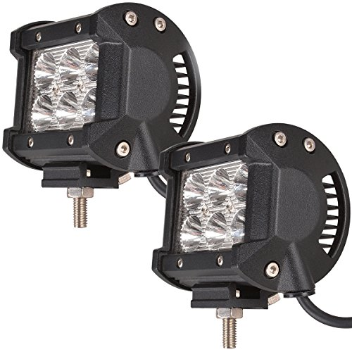 ATNEC LED Light Bar 2PCS 18W CREE Spot LED Pods LED Work Lights Driving Fog Lights for Off-road, Truck, Car, ATV, SUV, Jeep