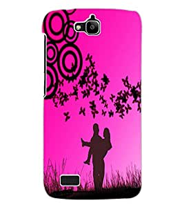 ColourCraft Love Couple Design Back Case Cover for HUAWEI HONOR HOLLY
