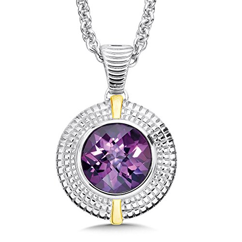 Amethyst Necklace in Sterling Silver and