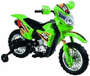 Vroom Rider VR093 Battery Operated 6V Kids Dirt Bike, Green