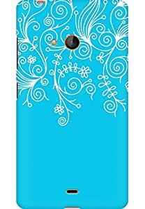 AMEZ designer printed 3d premium high quality back case cover for Microsoft Lumia 540 (sky blue white design pattern abstract)