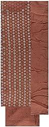 Gunjan Women's Cotton Silk Unstitched Salwar Suit (Brownish )