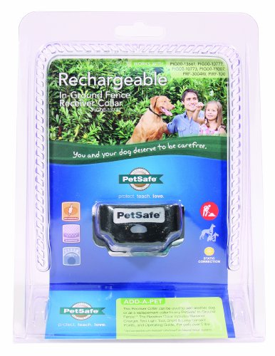 Petsafe - Electronics Pig00-13737 Rechargeabgle In-Ground Fence Receiver Collar Black