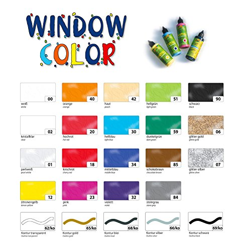 Folia Funny Color Antik, Window Color, Flasche 80ml, kristallklar