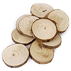 OULII Wood Log Slices Discs for DIY Crafts Wedding Centerpieces Pack of 30,6-8CM