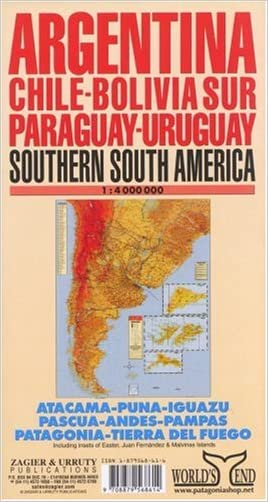 Argentina / Chile / Uruguay / Paraguay Map written by Sergio Zagier