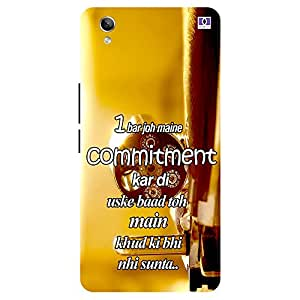 Commitment - Mobile Back Case Cover For Vivo Y 51L