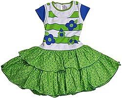 Be BeBo Girl's Cotton Dress (851, Green, 1 Year )