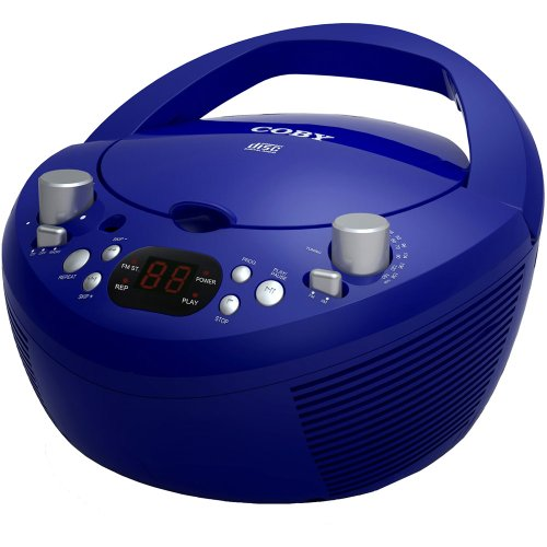 Coby CXCD251BLU Portable CD Player with AM/FM Radio, Blue