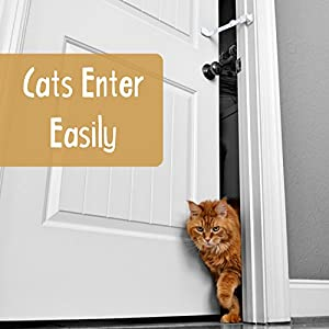 Door Buddy Baby Proof Door Lock Plus Foam Finger Pinch Guard. Keep Baby Out of Room AND Prevent Door From Closing. Cats Enter Easily. No Tools Installation. Easy and Convenient to Use! (Grey)