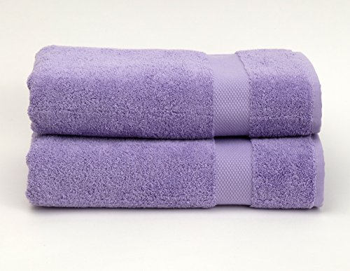TowelSelections Pearl Collection Luxury Soft Towels - 100% Turkish Cotton, Made in Turkey, Lavender, 2 Bath Towels