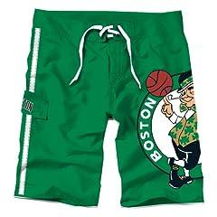 NBA Boston Celtics Juvenile Big Logo Boardshorts, X-Large by PEAKSEASON