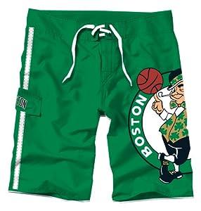 NBA Boston Celtics Juvenile Big Logo Boardshorts, Medium by PEAKSEASON