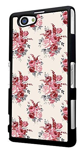 311 - Floral shabby chic Roses Fleurs Design für Alle Sony Xperia Z / Sony Xperia Z1 / Sony Xperia Z2 / Sony Xperia Z3 / Sony Xperia Z4 / Sony Xperia Z1 Compact / Sony Xperia Z2 Compact / Sony Xperia Z3 Compact / Sony Xperia Z4 Compact / Sony Xperia M2 / Sony Xperia M4 Fashion Trend Hülle Schutzhülle Case Cover Metall und Kunststoff - Bitte wählen Sie Ihr Telefonmodell und Farbe aus der Dropbox