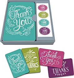 Studio Oh! Thank You Notecard Set, Chalkboard, Box of 12 from Studio Oh