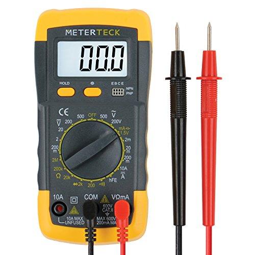 Meterteck Digital Multimeter Dmm Voltmeter Ohmmeter