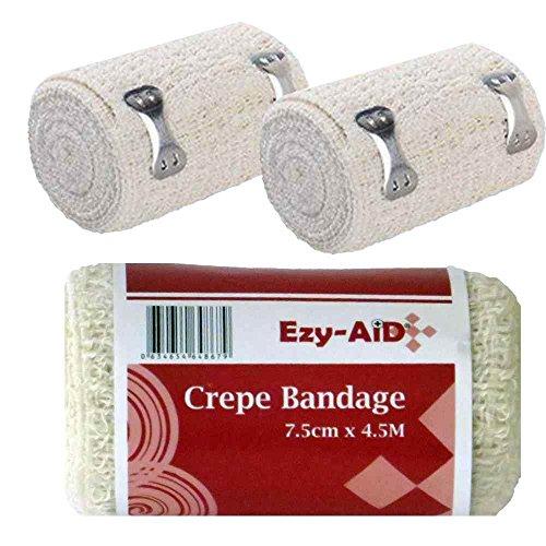 12Pk Ezy-Aid Crepe Bandage 7.5Cm X 4.5M - Premium Quality (City Crepe compare prices)