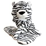 Choose from 25 Different Animals! - Plush Faux Fur Animal Critter Hat Cap - Soft Warm Winter Headwear - Short with Ear Poms and Flaps & Long with Scarf and Mittens available