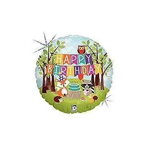 "Mayflower Happy Birthday Woodland Critter 18"" Mylar Balloon"