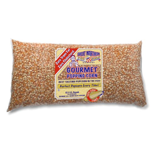 Great Northern Popcorn Premium Quality 12.5 Pounds Bulk GNP Original Yellow Gourmet Popcorn