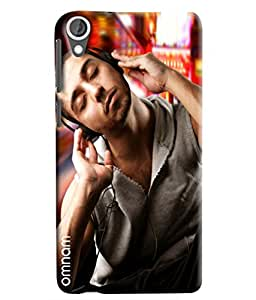 Omnam Guy Relaxing And Listening To Music Designer Back Cover Case For HTC Desire 820