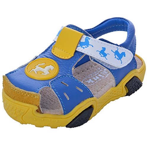 Doink Shoes Blue Leather Baby Boys Sandals UK Size 6(22 to 24 mths/2 yrs)